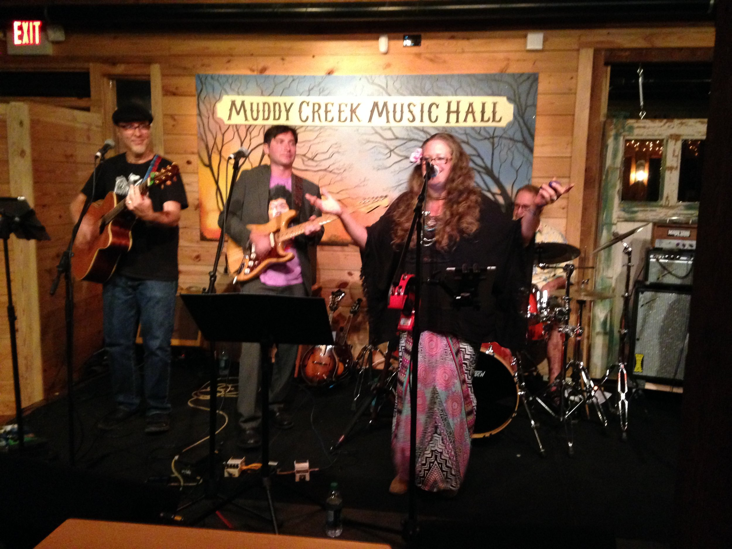 Andrea Templon's Stained Glass Canoe performing at Muddy Creek Music Hall in Bethania, North Carolina.