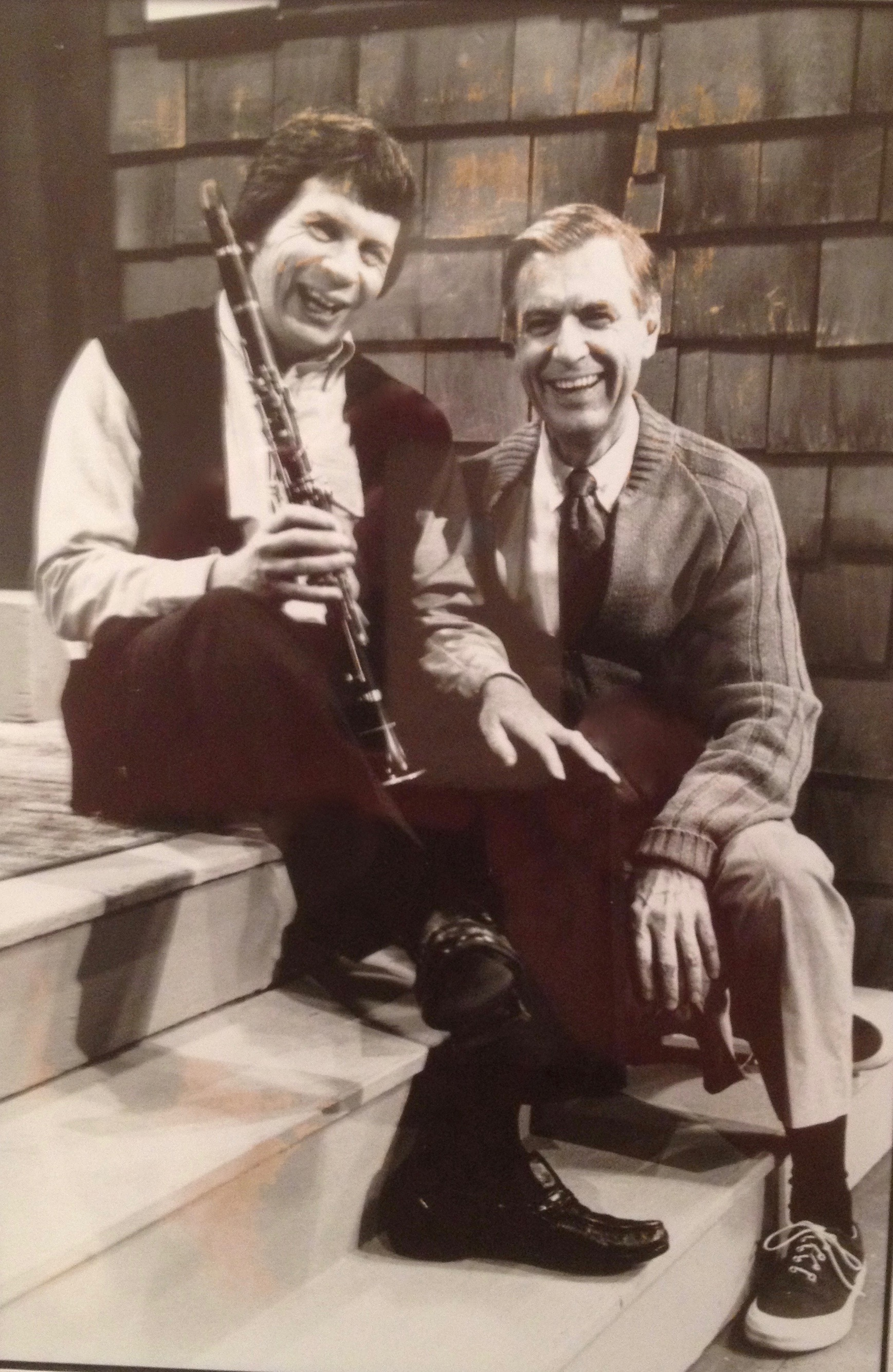Richard Stoltzman and Fred Rogers