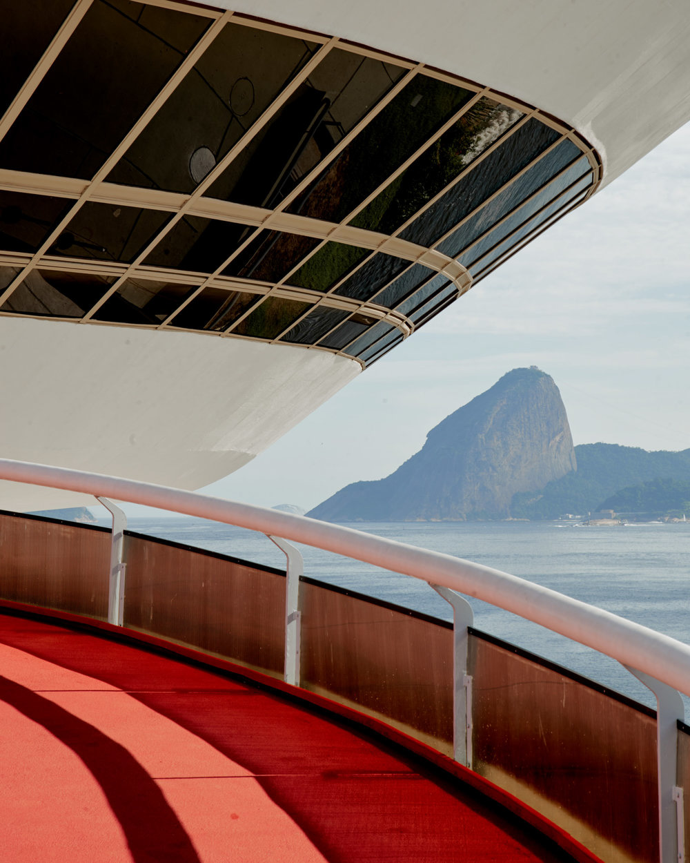 Niterói Contemporary Art Museum designed by Oscar Niemeyer in Rio de Janeiro, Brazil