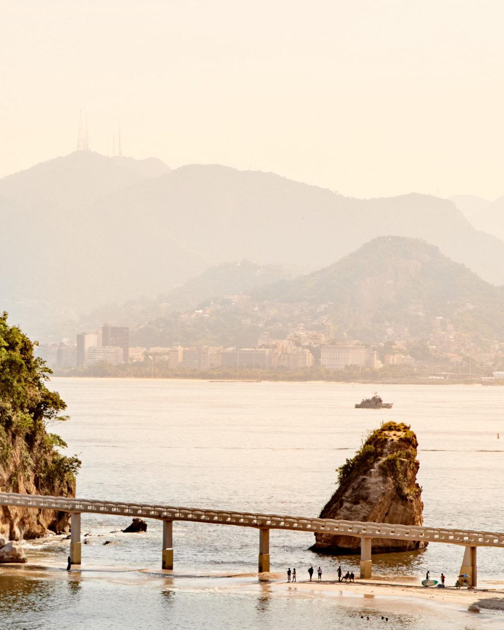 Beach scene in Rio de Janeiro, Brazil