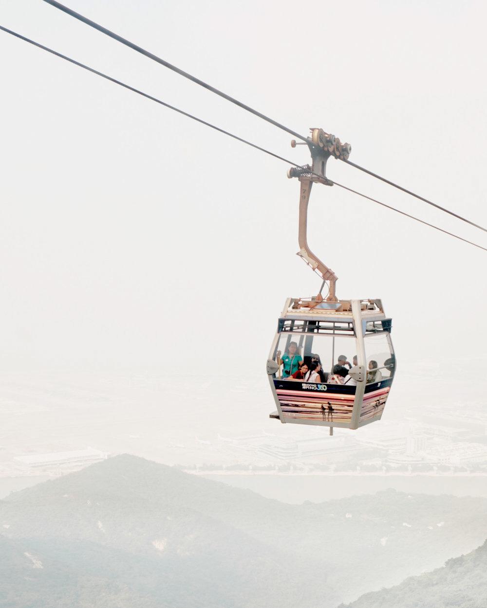 Cable car ride in Hong Kong