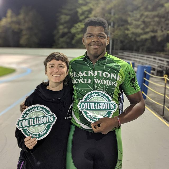 Our most courageous riders of the night are Kejuan Smith and Morgan Stern! These two showed up and lit up the fields they raced in with some amazing racing prowess! Great job! . . . #trackcycling #trackishere #track #trackishere #tracknights #fixedgear #fixed #fixies #fixie #trackprom