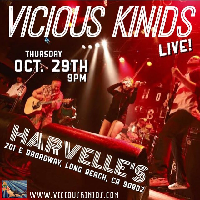 Let's Get Weird! Let's Get Weird!Let's Get Weird! Tonight is the night! We are live and direct from Harvelle's in Downtown Long Beach, TONIGHT!!! TONIGHT!!!TONIGHT!!!! with special guest Tri-State Union and The Velvet Vixens! Doors open at 8pm, show starts at 9pm. Get in where you fit in!  #viciouskinids #tristateunion #velvetvixens #harvelleslongbeach #viciousthursdays #gabrielsayswehavetohashtag