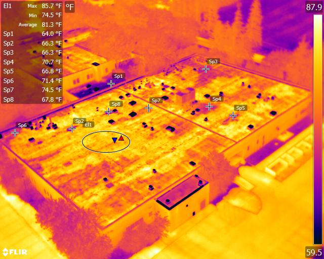 Commercial roof inspection analysis