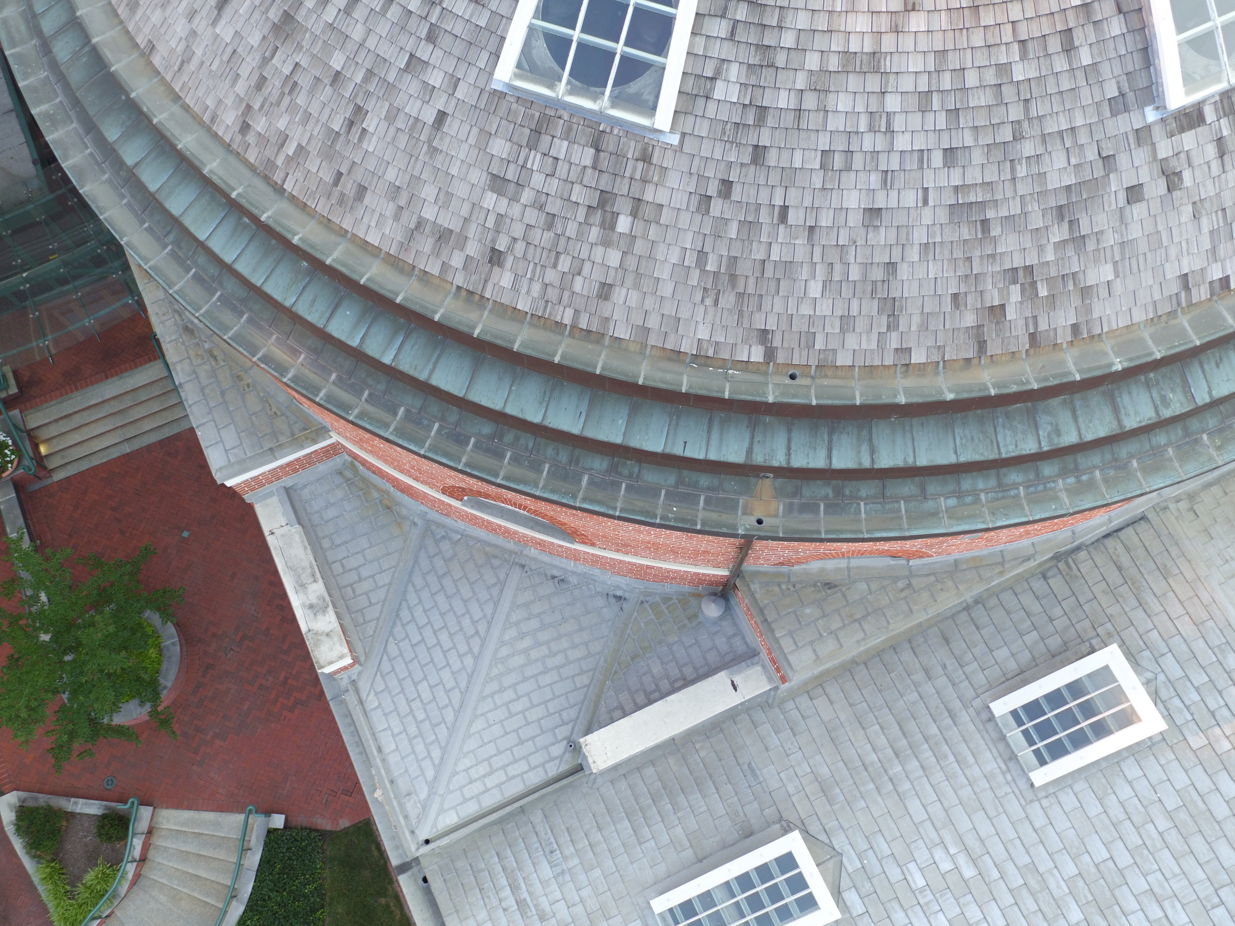 Davidge Hall roof inspection