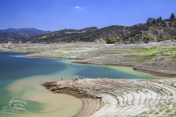 Castaic Lake during drought