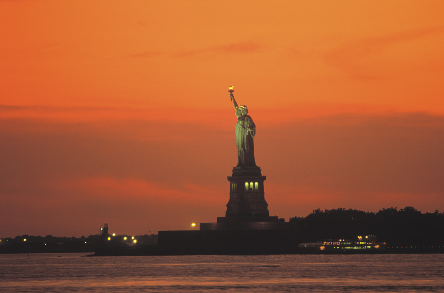 Statue of Liberty, Sunset, New York
