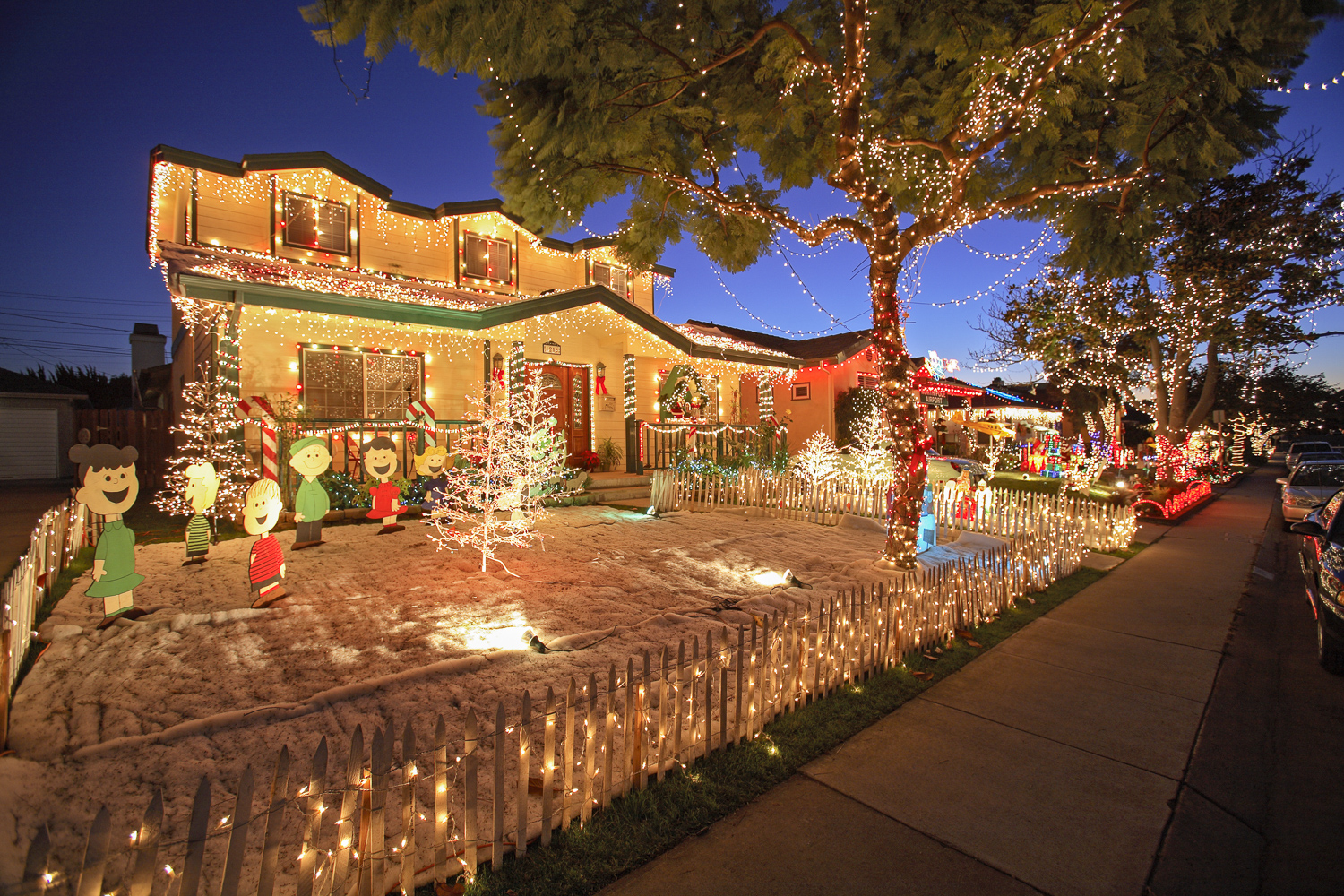 Candy Cane Lane, El Segundo, Los Angeles, California