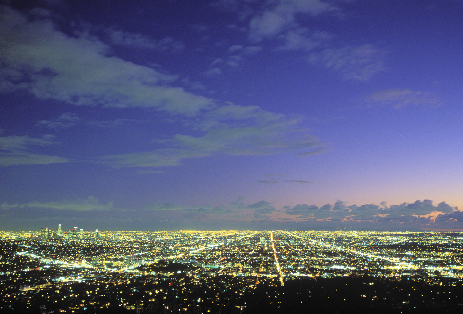 Sunset from Griffith Park, Los Angeles, California (LA)
