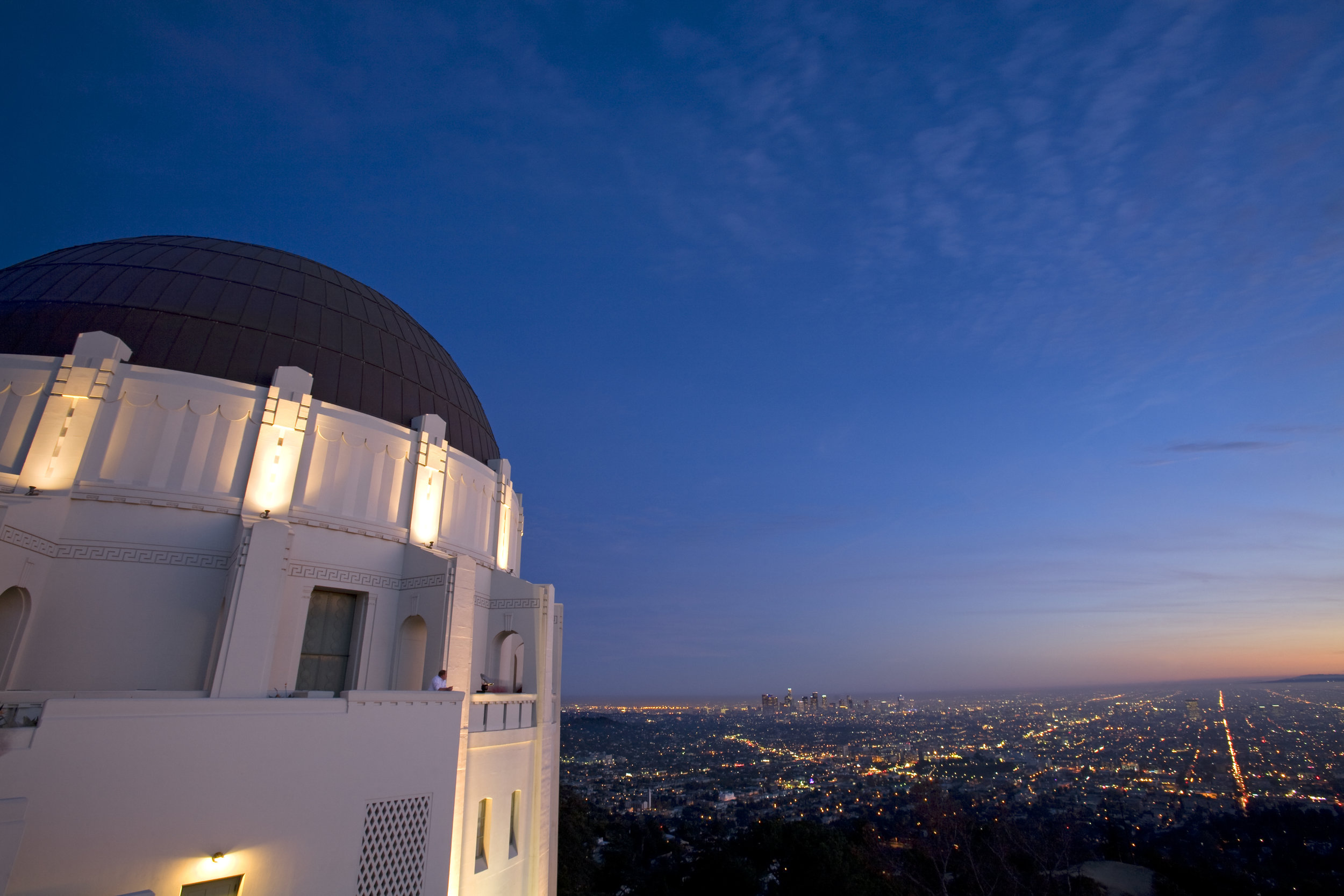 Griffith Observatory and Los Angeles Skyline, California, USA