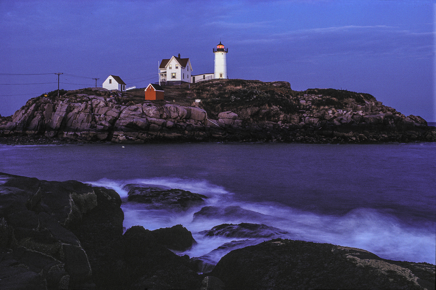 Cape Neddick Lighthouse, Nubble Light, Cape Neddick, Maine, USA