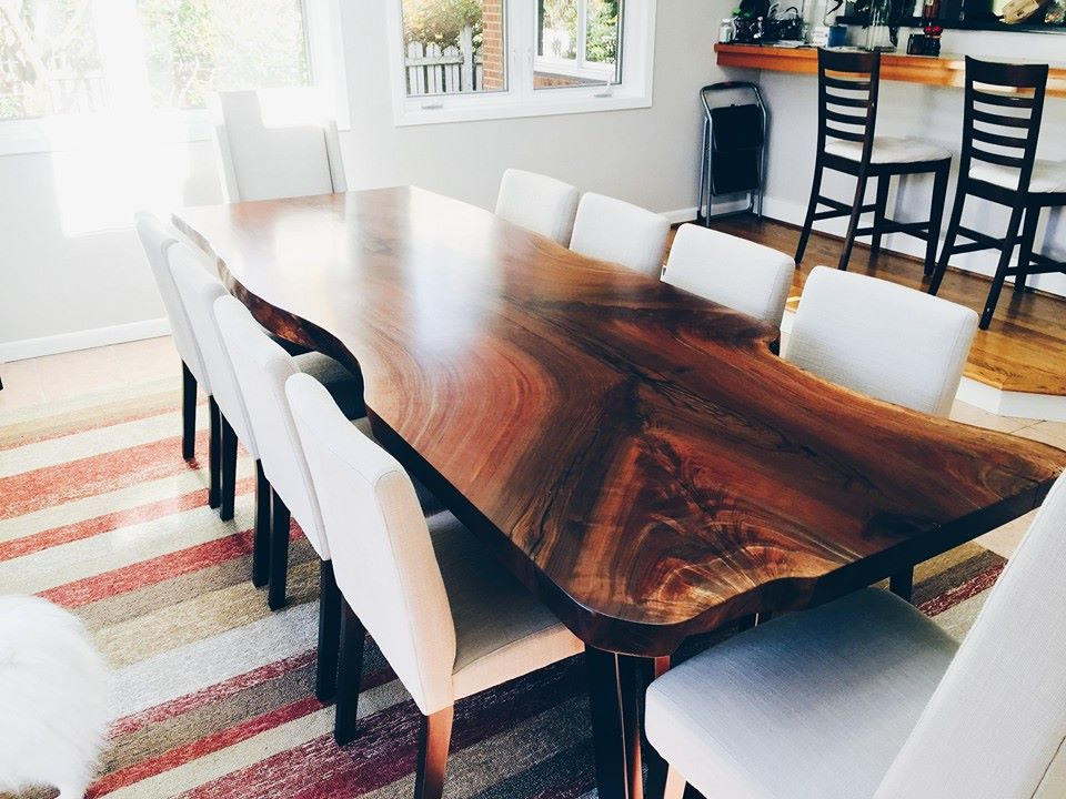 Natural Live Edge Wood Dining Tables