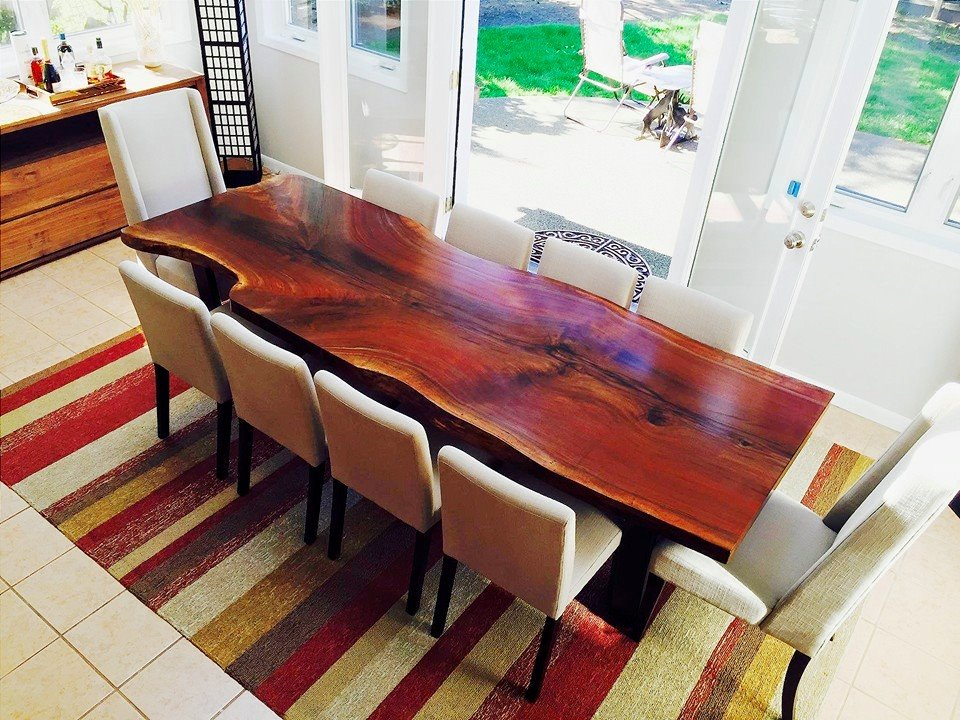 9' BLACK WALNUT DINING TABLE
