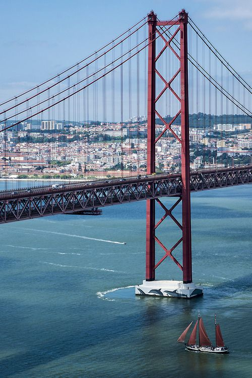 "25 de Abril Bridge—Lisbon's ""mini"" Golden Gate."