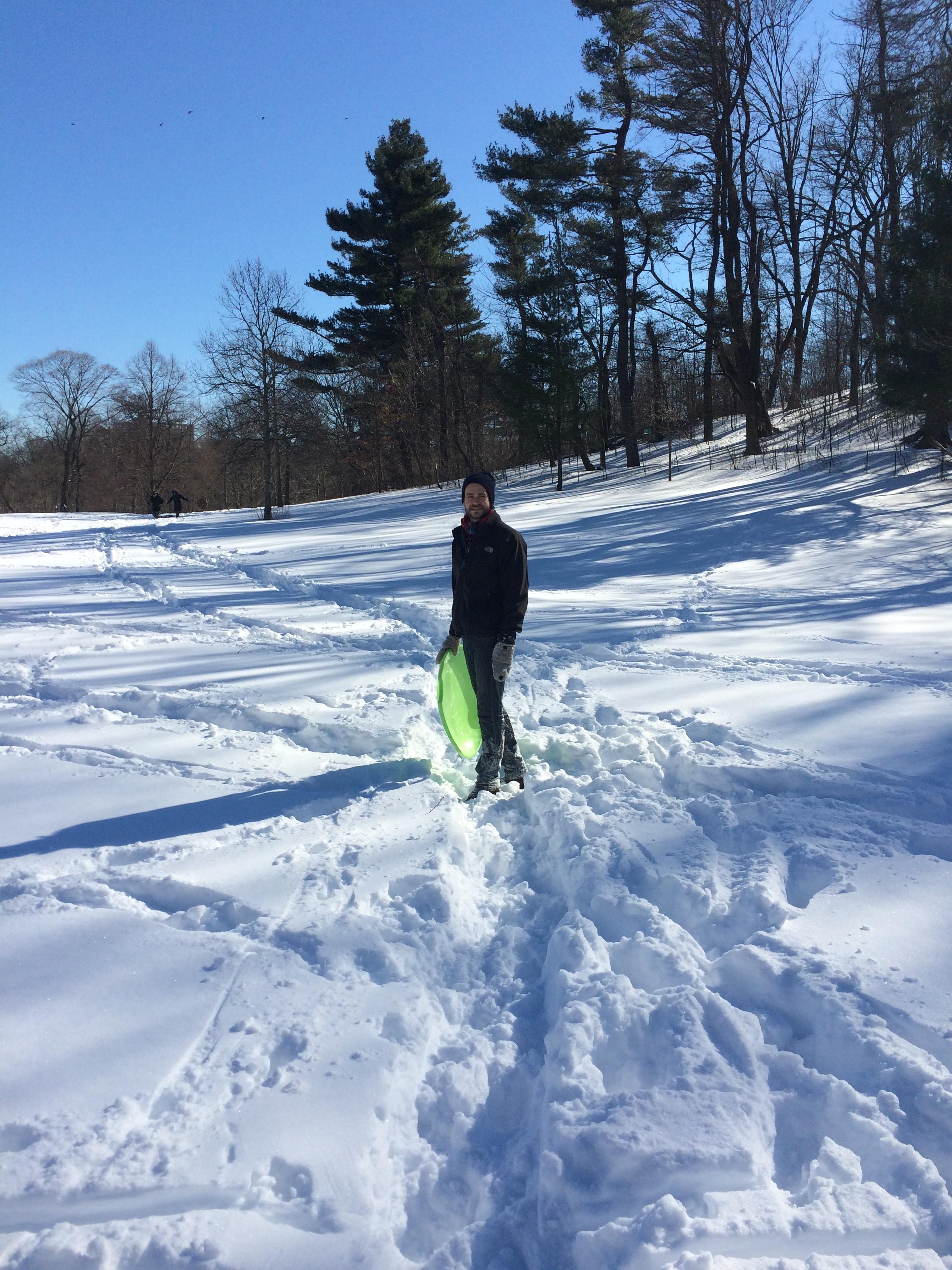 hottsauce sledding snow brooklyn blog