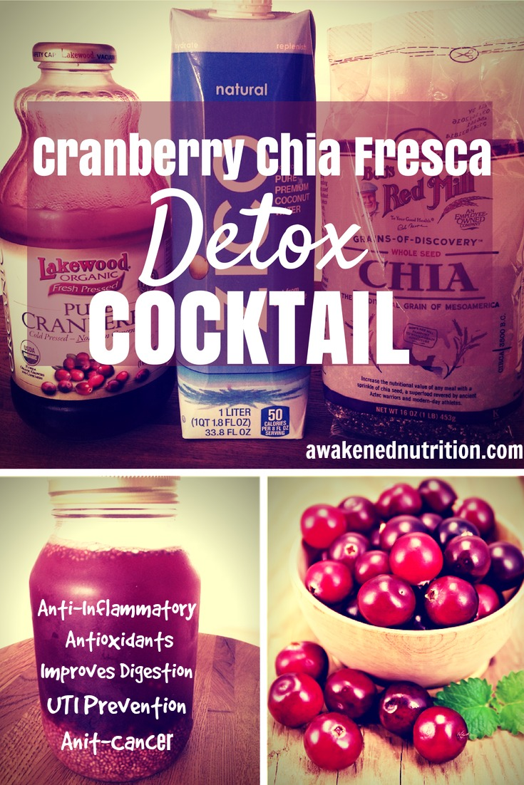 Cranberry Chia Fresca Detox Cocktail