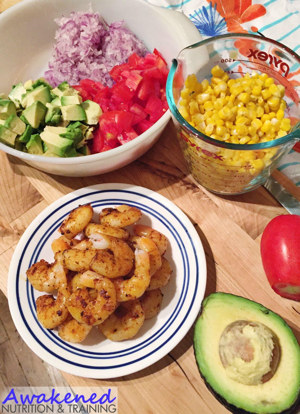 Zesty Avocado Shrimp and Corn Salsa via AwakenedNutrition.com