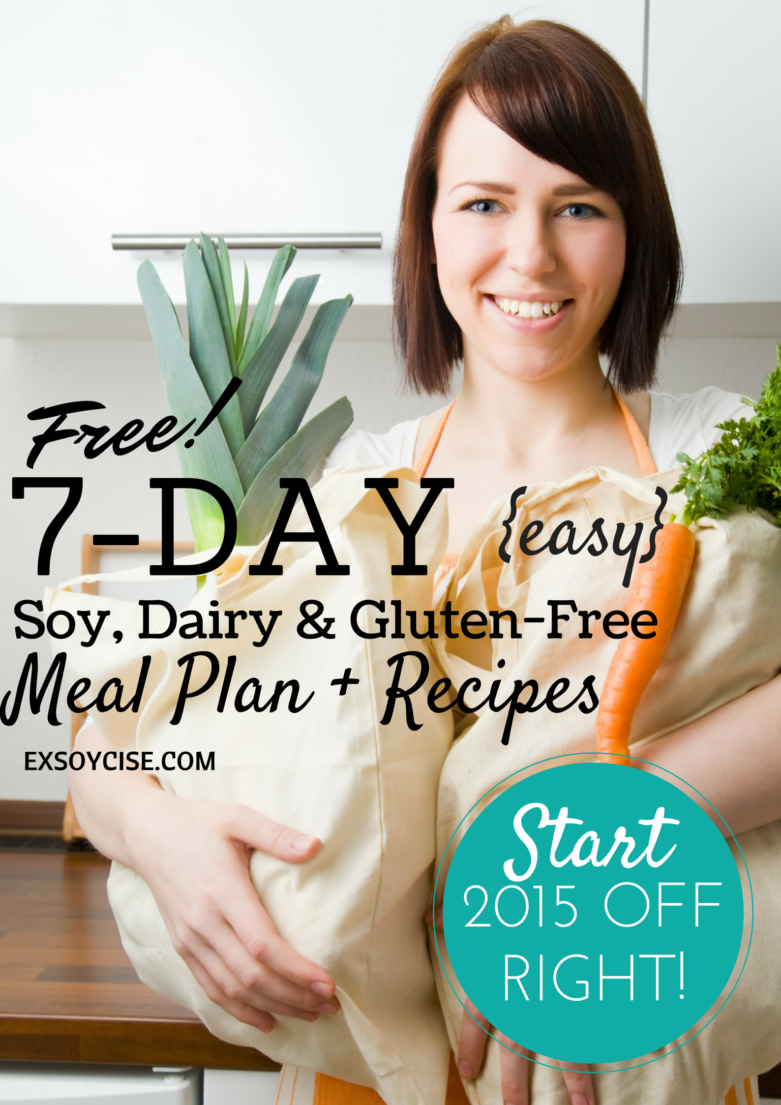 Free 7-day soy, dairy & gluten-free meal plan with recipes