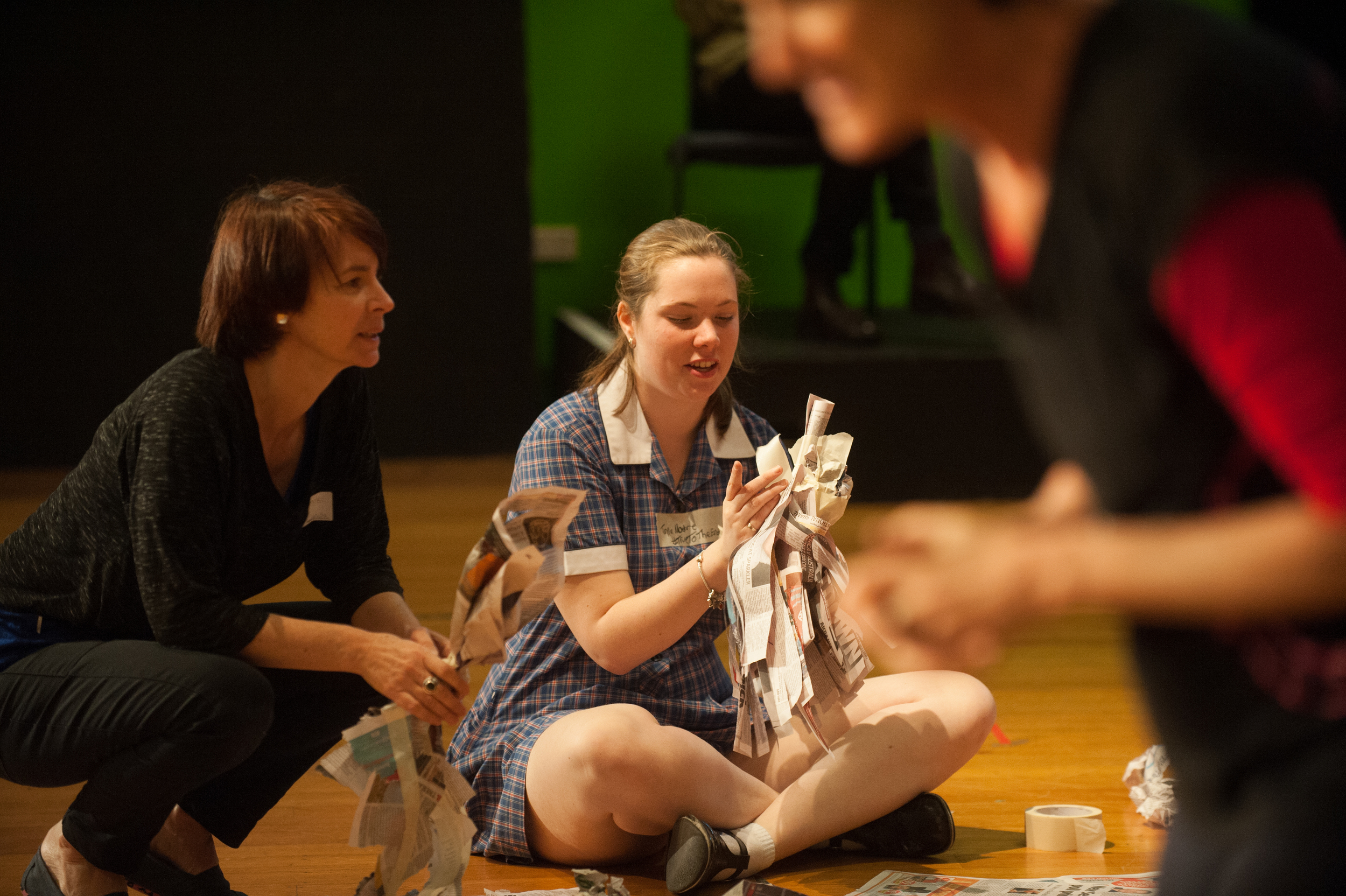 Working with Secondary Students with Polyglot Theatre 'Theatre Craft' workshop