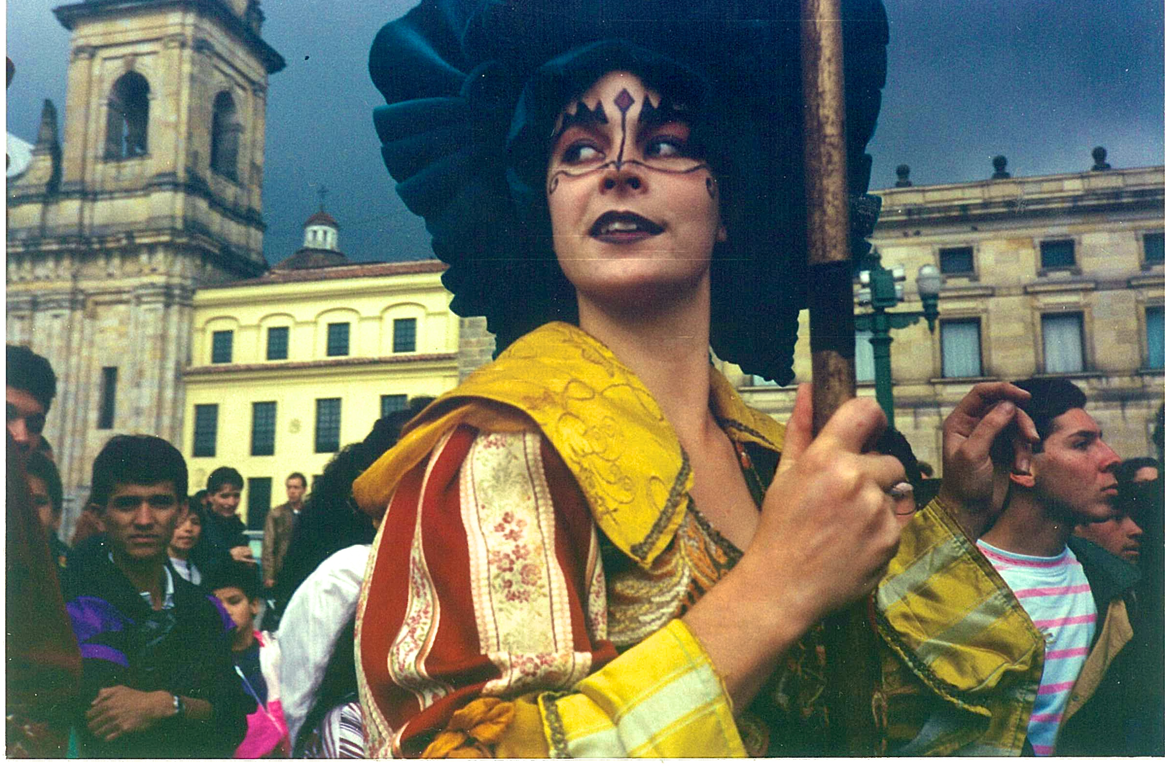 Street Theatre Company 'The Hunting Party' in Bogota, Colombia 1995
