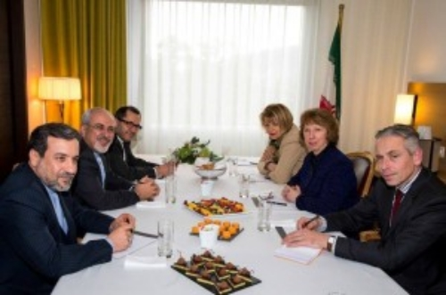 Zarif Meeting with Ashton