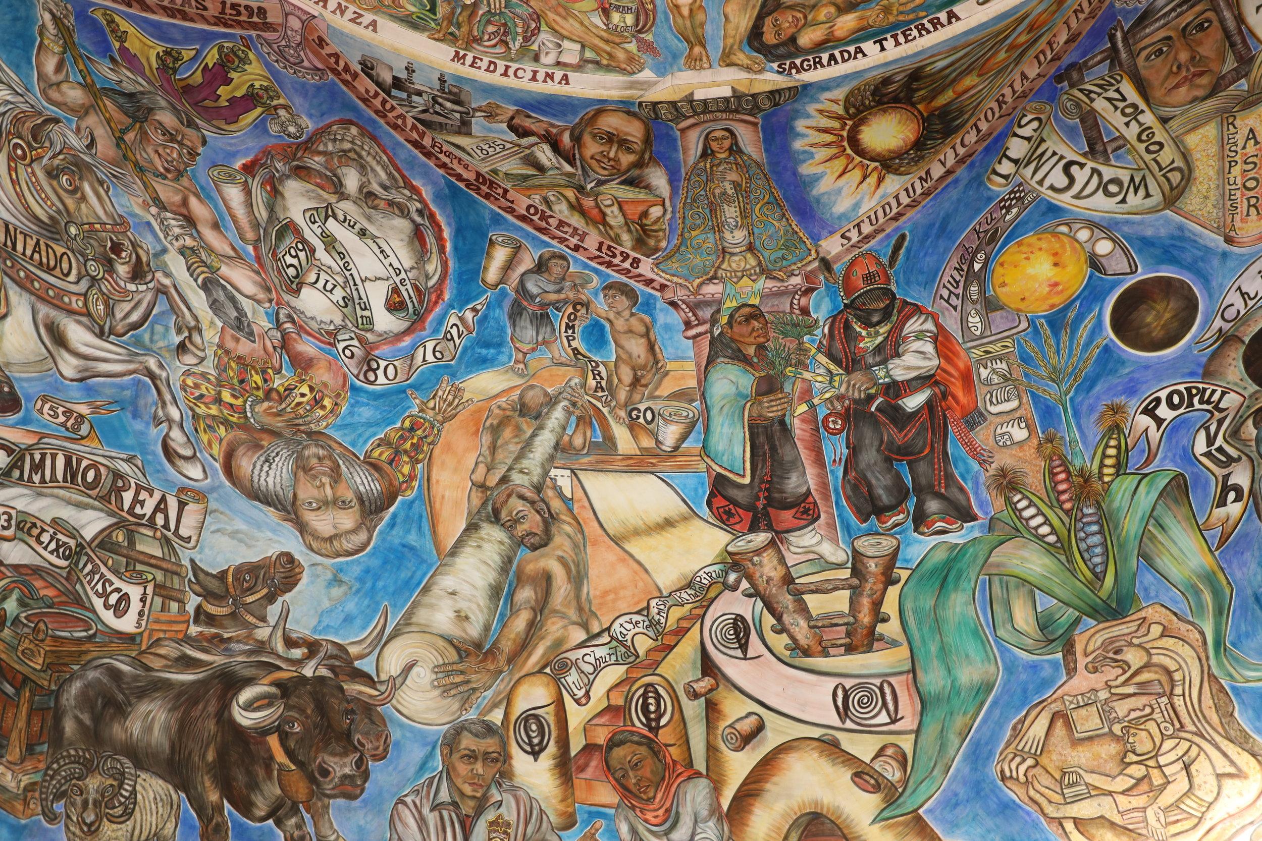A fresco painted by Frederico Vigil.
