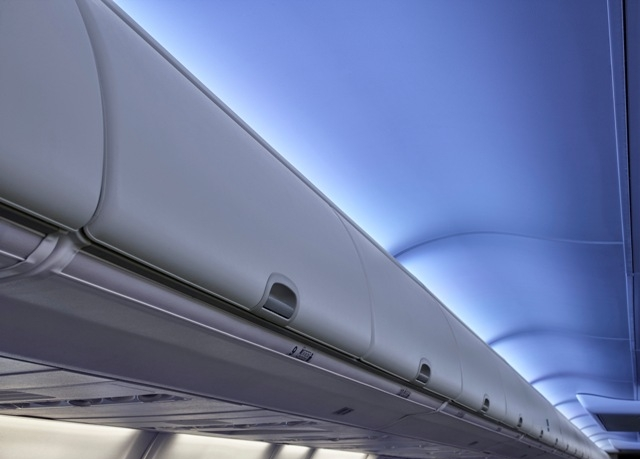 All of our Boeing 737-700 aircraft have mood lighting installed to complement outside light conditions