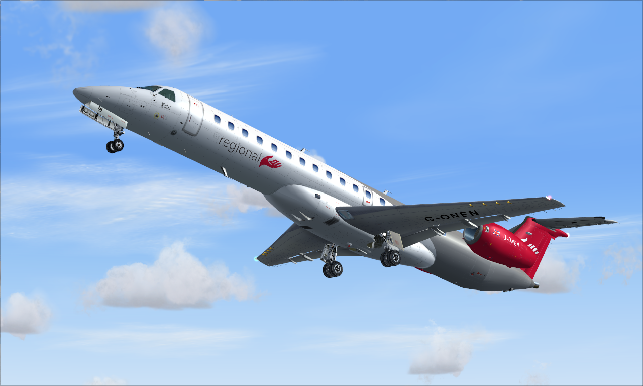 Embraer ERJ - Operated by regional airlines