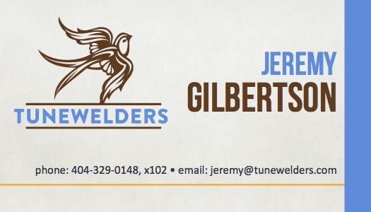 Jeremy Gilbertson Business Card