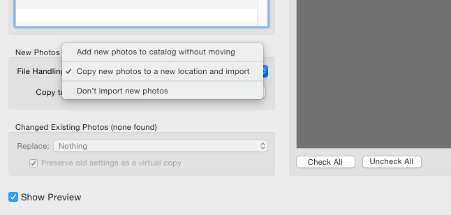 Pay close attention to whether or not you need to copy your images to a new location.