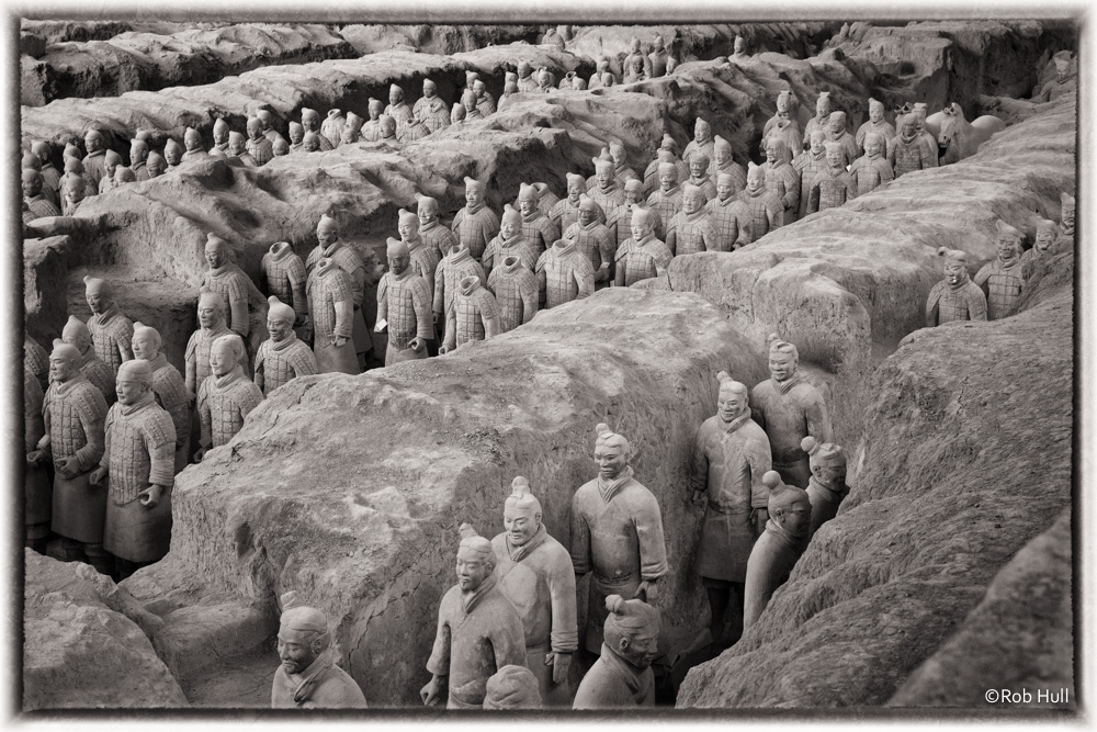 Terracotta Warriors in the Mausoleum of the First Qin Emperor, Xi'an, China.