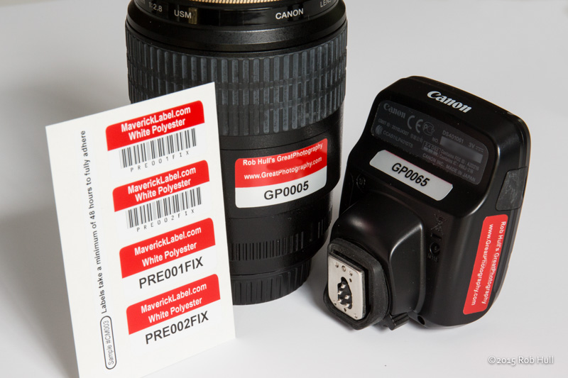 For higher dollar equipment you may want to use asset labels. They mark your equipment with contact information and tracking information.
