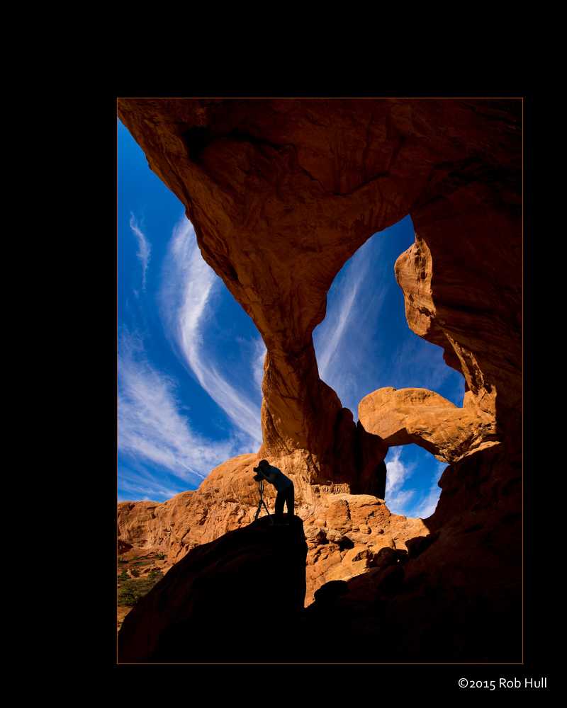 Heaven & Earth - This is a five-frame stitched panoramic of Double Arch in Arches National Park.