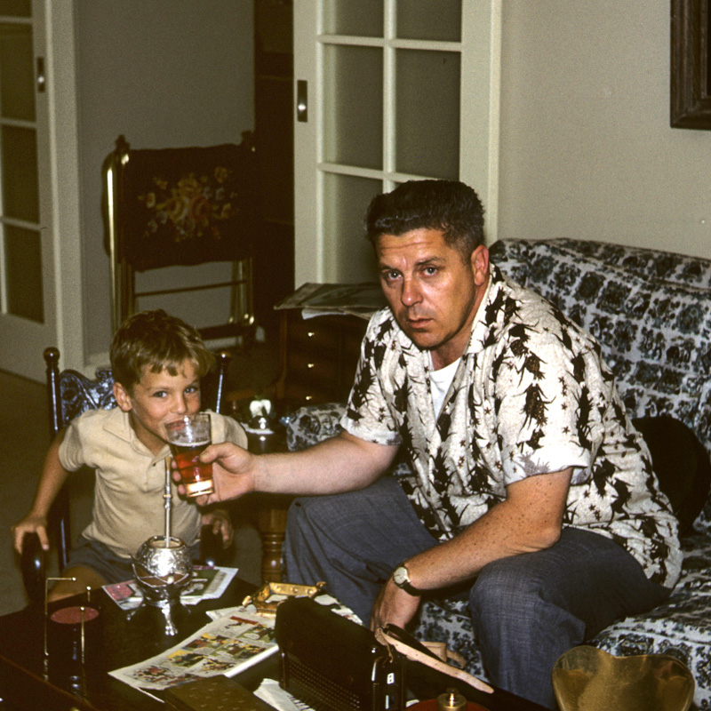 Your's truly and my Dad. I'm sure mother had some words for him.