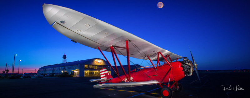 25 Seconds, f/18, ISO 100 - For this shot, I used a 5 million candlepower flashlight to illuminate the airplane.