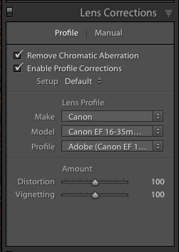Use the Lens Corrections panel in Adobe Lightroom to correct for chromatic aberration.
