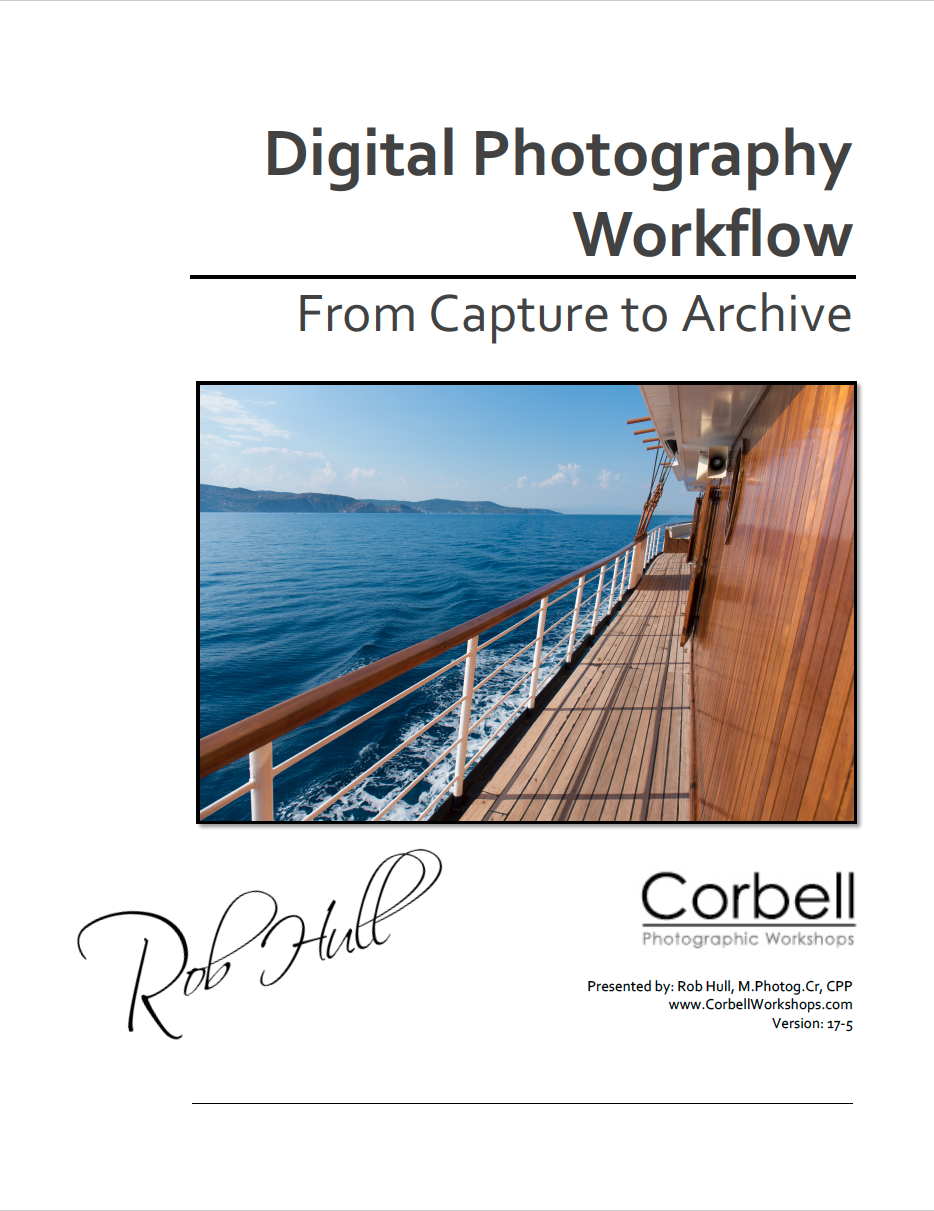 Presentation notes for Digital Photography Workflow presentation