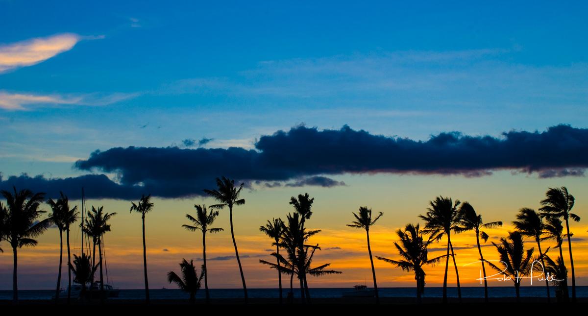 Sunset on Anaeho'omalu Beach