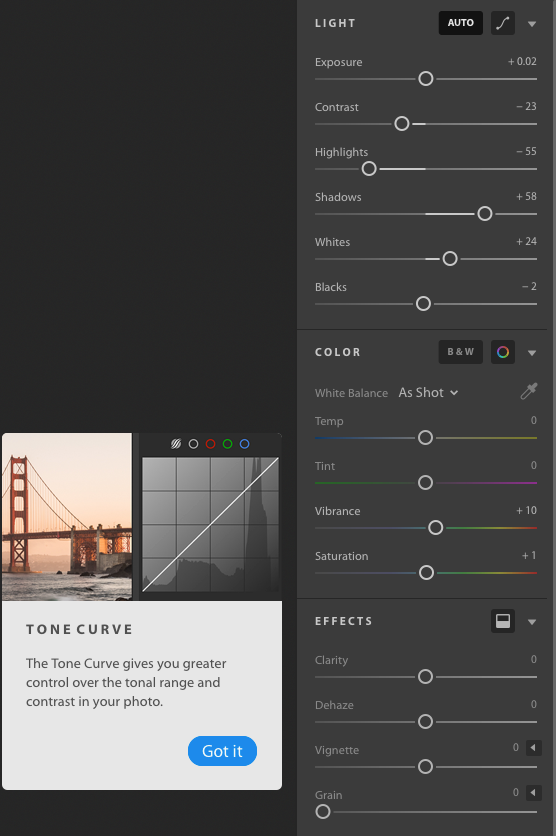 Tools in the new Adobe Lightroom CC