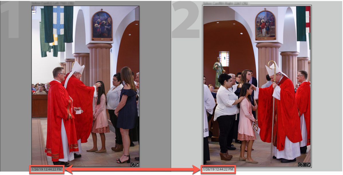 After correcting the Time & Date, you can match images from the same moment in time from multiple cameras.