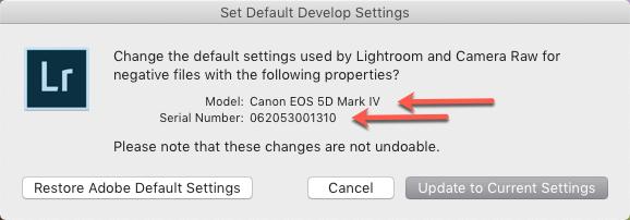 Set Default Develop Settings-Model-Serial.png