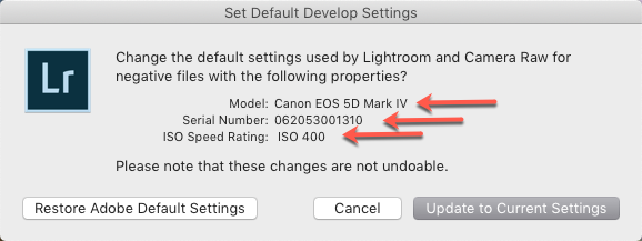 Set Default Develop Settings-Model-Serial-ISO.png