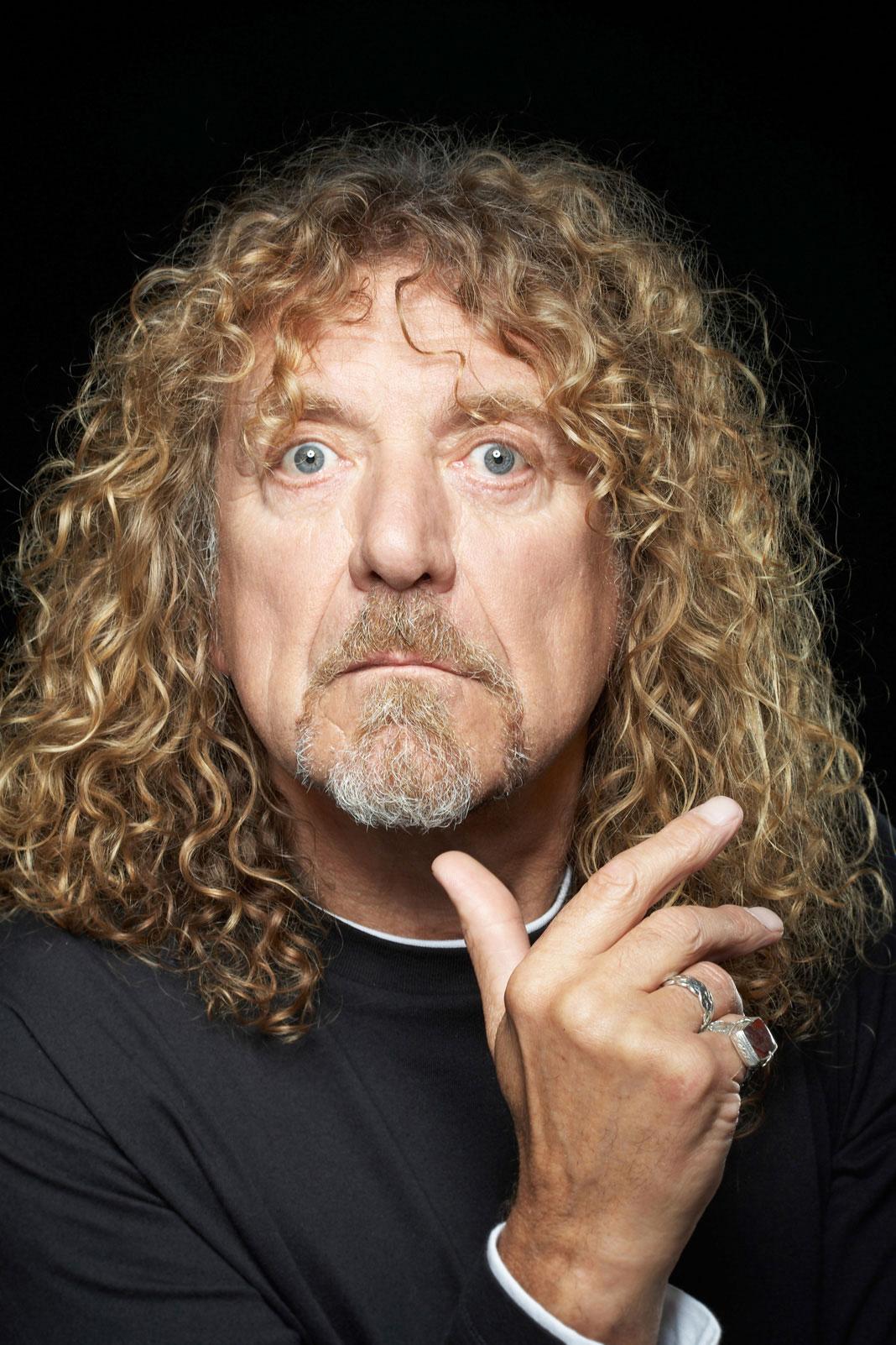 Led Zeppelin's Robert Plant headhsot image by Russ Harrington