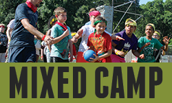 Mixed Camp  is for campers in the 2nd-12th grade range.     Mixed 3-Day: July 6 - 8 •   Mixed 5-Day: July 30 - August 3