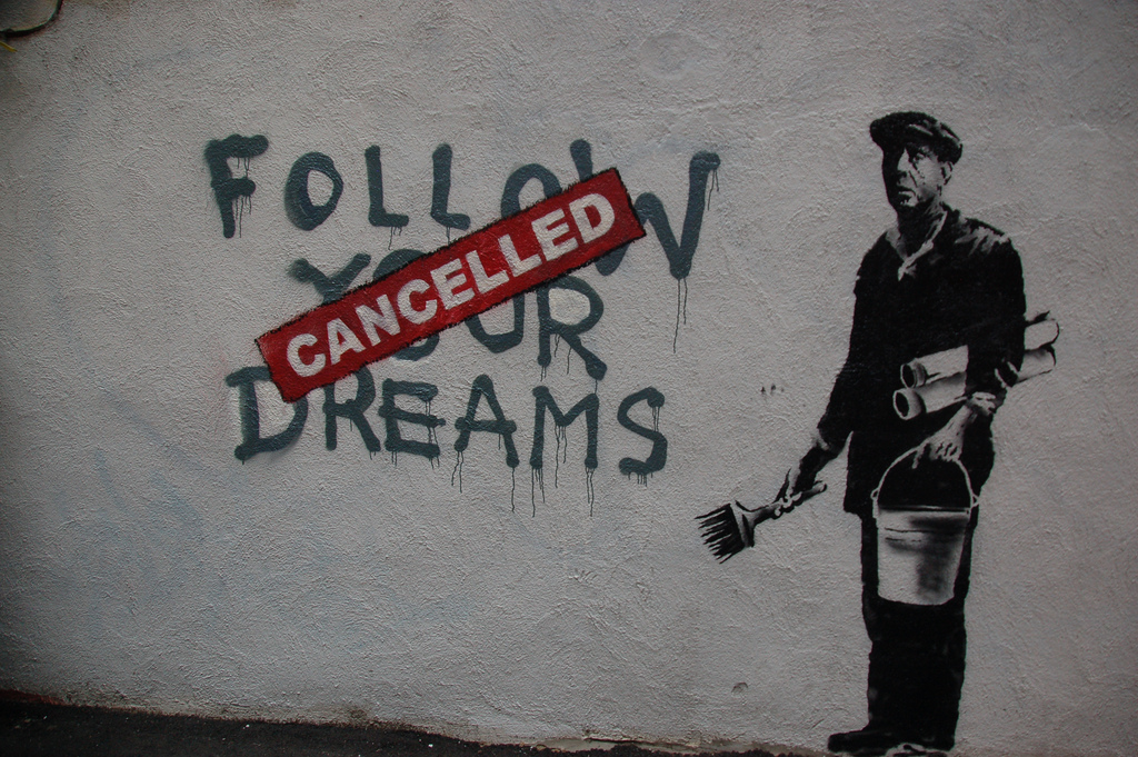 Photo by  Chris Devers , art by the incredible Banksy.