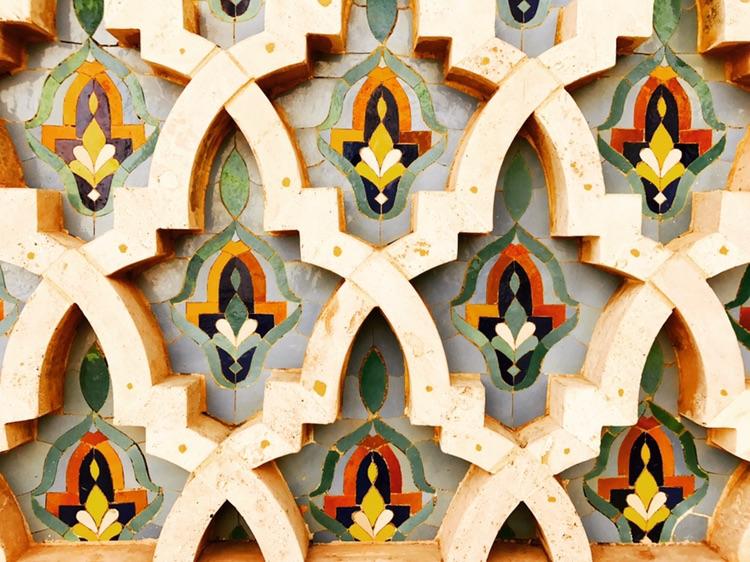 Hassan II Mosque detail, Morocco