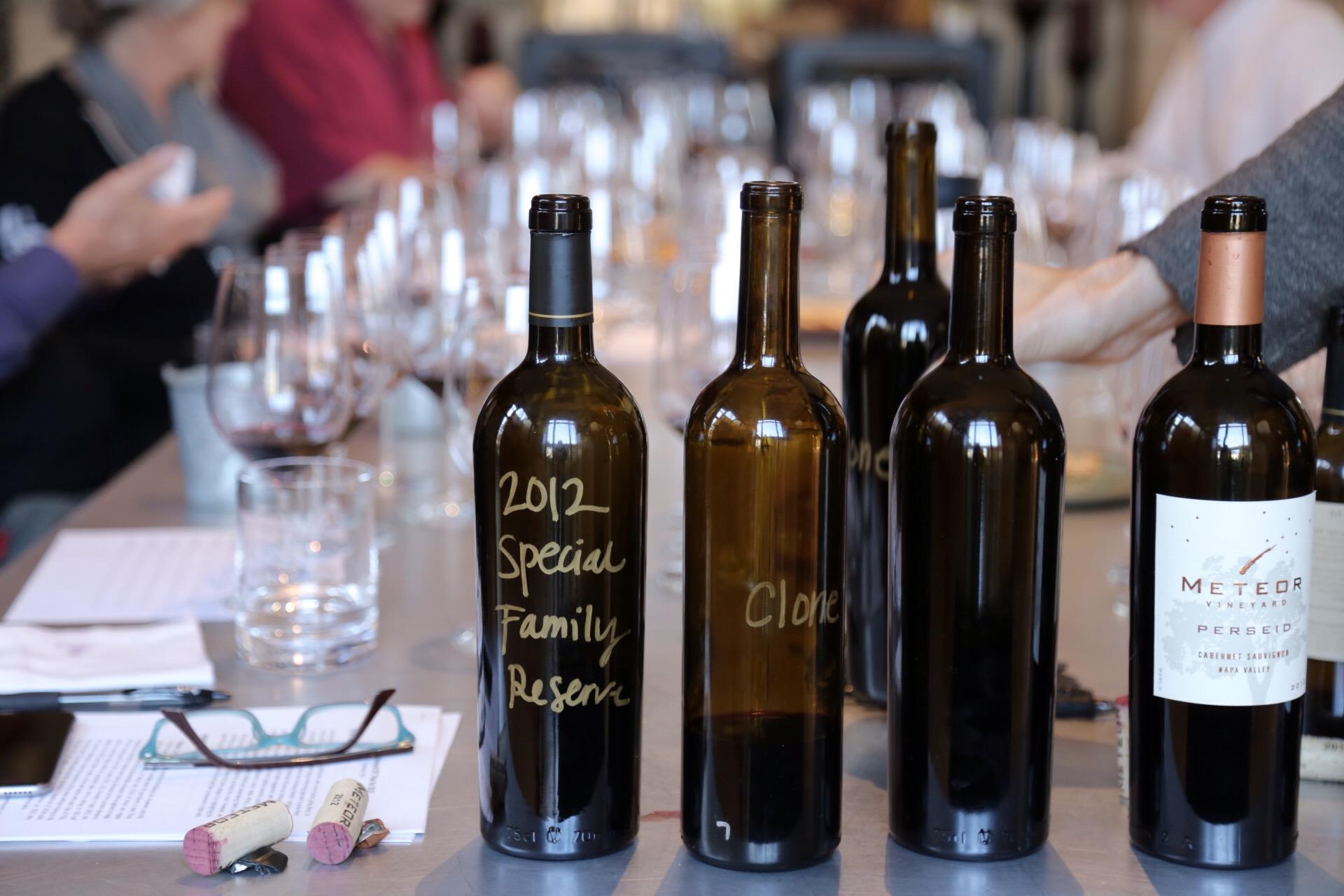 Blending the 2013 vintage, Meteor Vineyard, January 2015