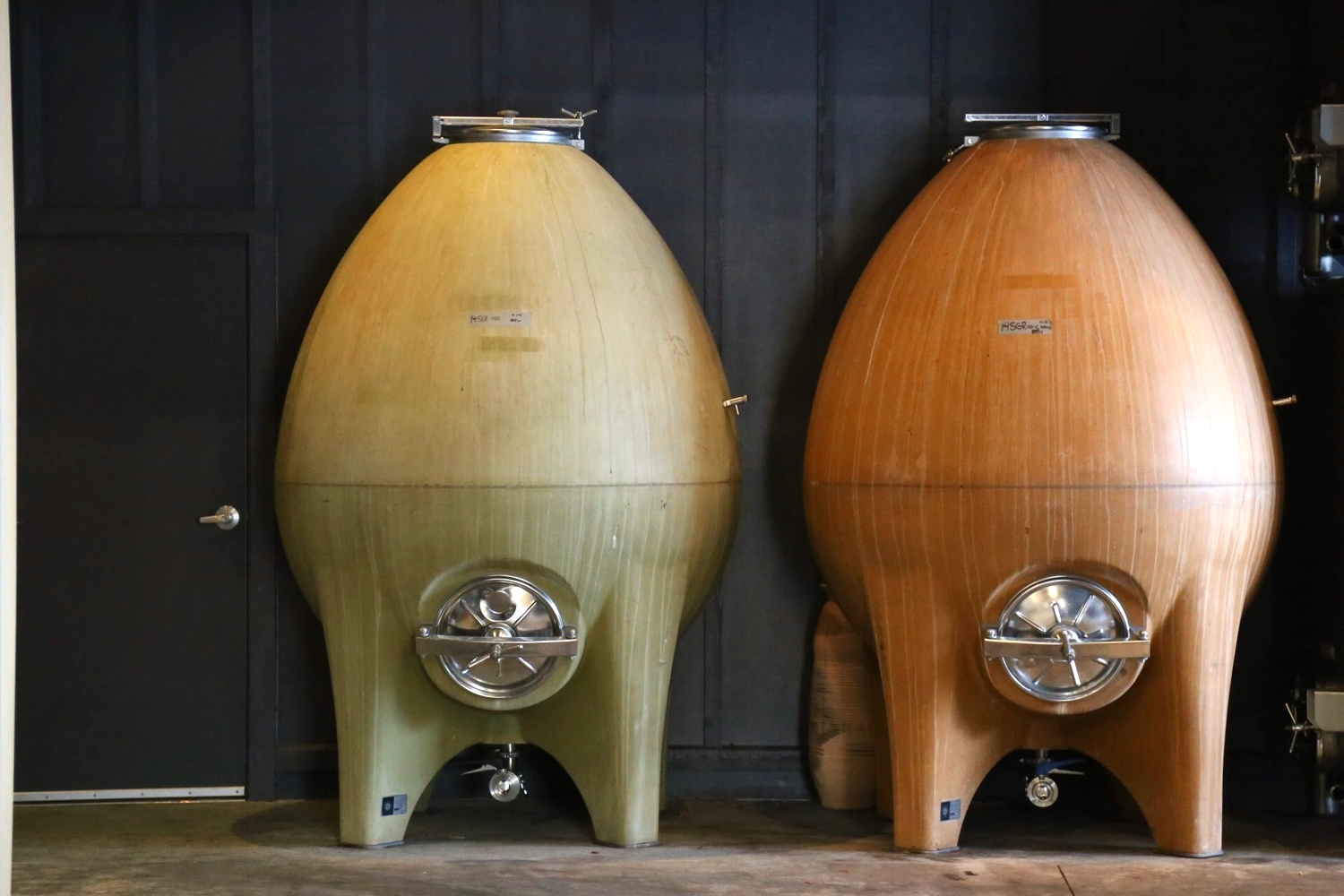 Concrete eggs at Wind Gap Winery, January 2015