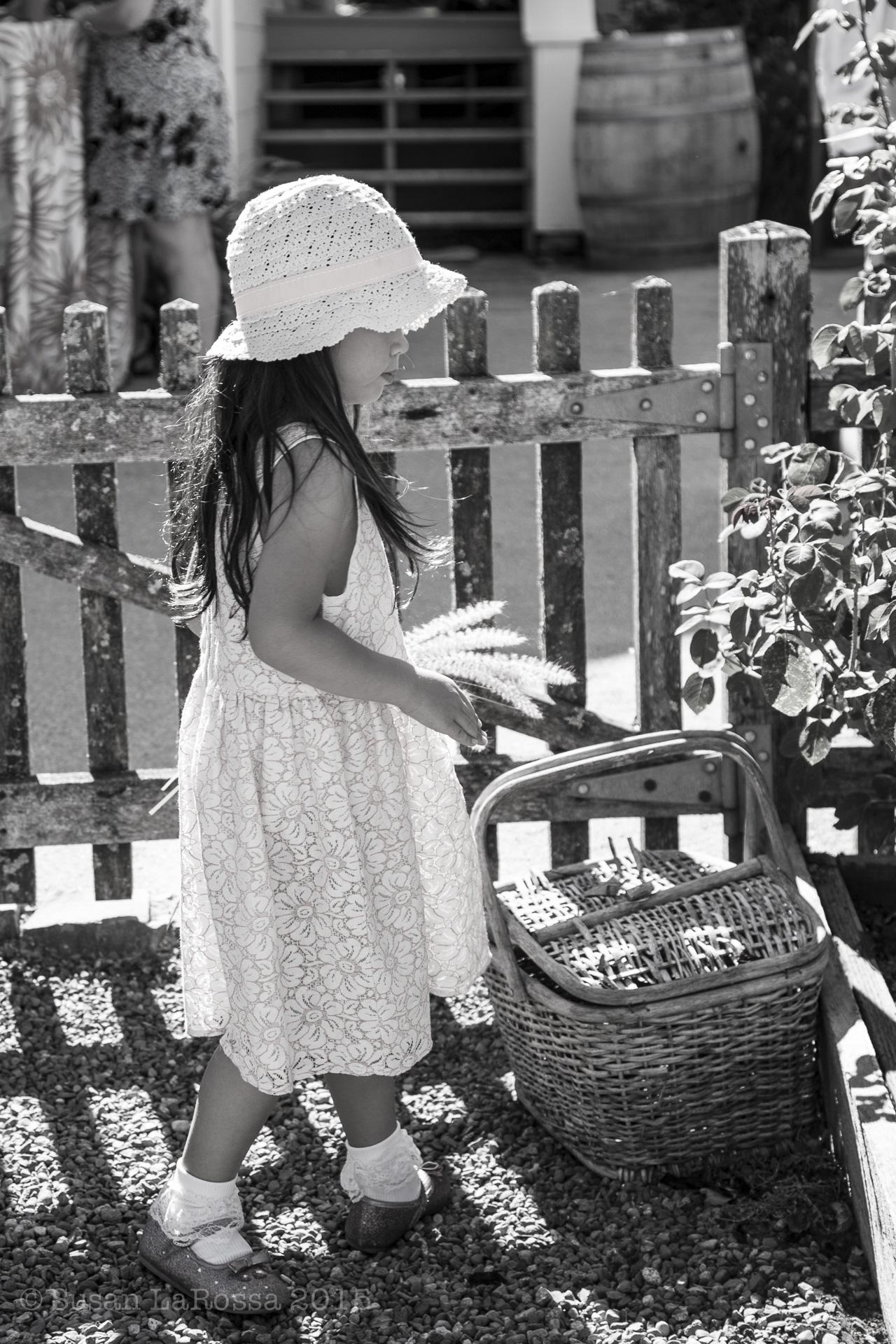 flower girl in the garden, Durell Vineyard