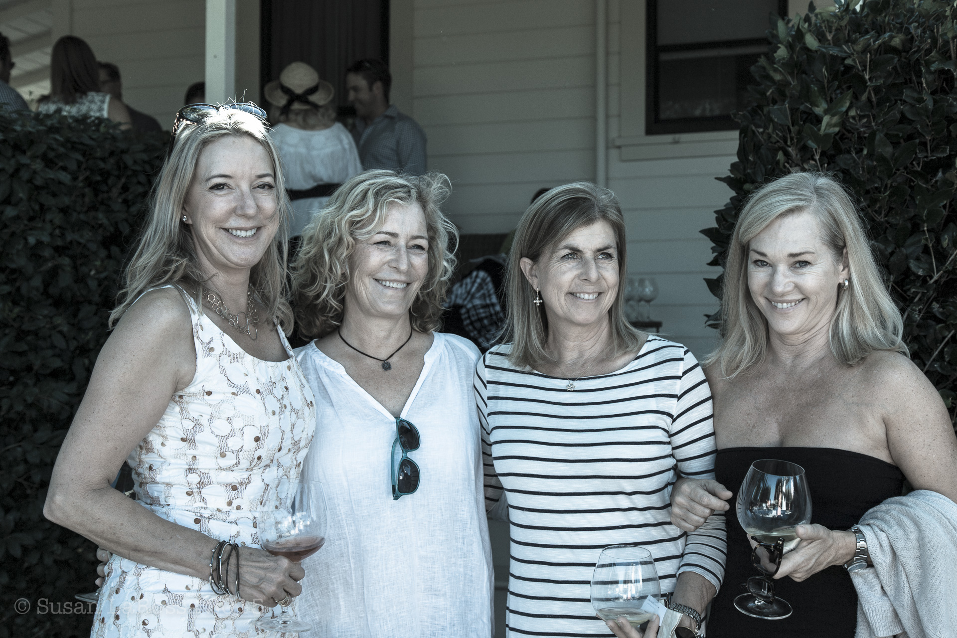 Dunstan Wines owner Ellie Phipps Price and friends